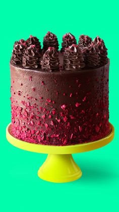 Chocolate Raspberry Cake Think vegan means boring? Prepare to have your illusions shattered with this Vegan Chocolate Raspberry Cake!Think vegan means boring? Prepare to have your illusions shattered with this Vegan Chocolate Raspberry Cake! Chocolate Raspberry Cake, Vegan Chocolate, Cake Chocolate, Chocolate Frosting, Food Cakes, Cupcake Cakes, Vegan Birthday Cake, Cake Recipes, Dessert Recipes