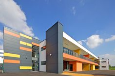 Park Brow Community Primary School  Architect: 2020 Liverpool  coloured Sto synthetic #render