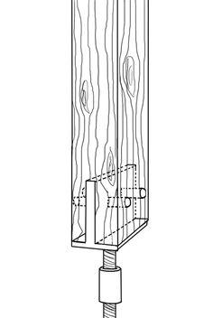 pfostentr ger mit dorn und steindolle zum einbetonieren als tr ger f r pfosten 8x8 oder 9x9. Black Bedroom Furniture Sets. Home Design Ideas