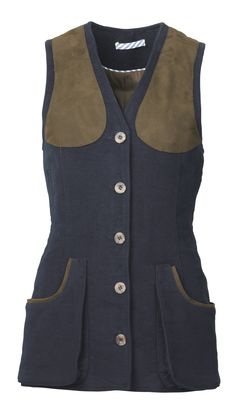 755a152043d06 Laksen Sporting lady navy Broadland shooting vest