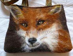marmaladerose wet felted wool handbag. 'Foxy Fowler'
