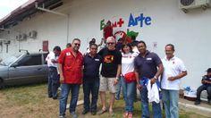 Voluntarios y Amigos de Cruz Roja Panama durante EnAmorArte