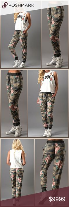 ARRIVES SOON 🆕 THE CAMO FLORAL JOGGER PANT Like this listing to notified when you can purchase. Limited quantities ordered.  Perfect for your athleisure lifestyle, these color-blocked joggers offer sleek chic style with slash pockets, a rib-knit waistband and elastic cuffs. (MADE IN USA)  Price will not be more then $55  Closet Guidelines ^ Bundle Discount ^ No Trades ^ Make Offers Thur Offer Button Chic^Girl Pants Track Pants & Joggers