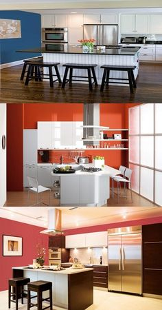 Ideas for Modern Kitchen Designs, colors and lights - A kitchen is the busiest area in house so you will need innovative ideas that will help you to enjoy your time during preparation your delicious meals. Add pizzazz to your kitchen with the perfect color palette through these instructions: Colors and light: You have to avoid too many colors in... - Color - colors, kitchen