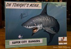 Opening game of the 2013 season for the Southland Sharks. Velodrome, Invercargill, April 19, 2013. Southland Sharks 93 - 74 Super City Rangers.