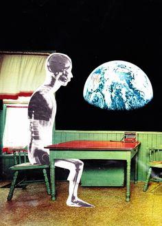 "Saatchi Art Artist Erin Case; Collage, ""Agoraphobia"" #art"
