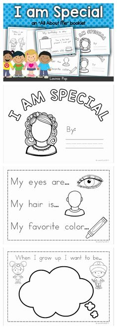 All About Me - Colorful Dreams Kindergarten Nursery Preschool Lessons, Kindergarten Classroom, Preschool Activities, All About Me Activities For Preschoolers, All About Me Preschool Theme, All About Me Crafts, All About Me Art, Kindergarten Freebies, Beginning Of School