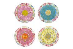 Asst of 4 Canapé Plates, Marakesh Glass on OneKingsLane.com