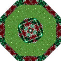 christmas bloom Golf Umbrella by saprillika