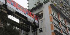Di China, Kereta Bisa Menembus Apartemen - Kompas.com  Keren nih...semoga nanti Jakarta dan kota lainya bisa maju seperti ini.