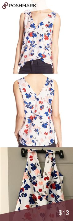 Banana Republic floral tank Banana Republic floral tank. Worn once. Size XS petite. Banana Republic Tops Tank Tops