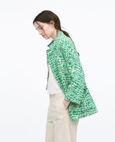 LONG JACQUARD JACKET WITH PATCH POCKETS-View all-Jackets-WOMAN | ZARA United States