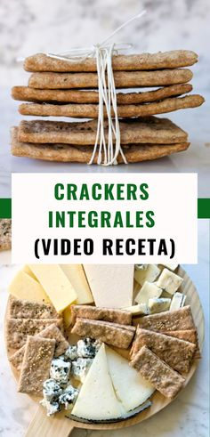 Salty Snacks, Sweet Cookies, Queso, Crackers, Dairy, Food And Drink, Healthy Recipes, Bread, Cheese