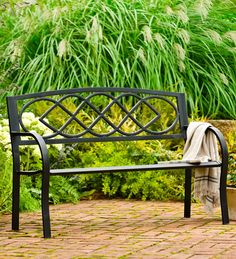 Celtic Knot Garden Bench $99 from Plowhearth.com