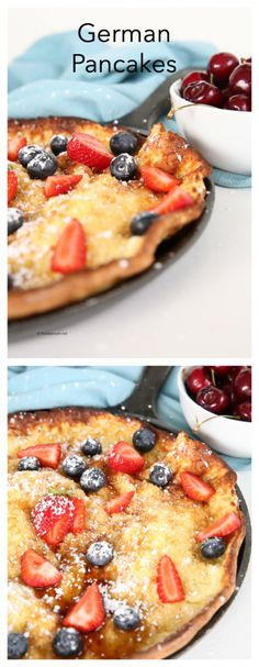 Breakfast Ideas| One of our favorite breakfast recipes are these German Pancakes that are baked in the oven. They are so easy to make and are a huge hit with every one in the family.