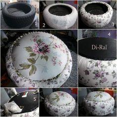 DIY Recycled Tire Cushion DIY Projects / UsefulDIY.com on imgfave