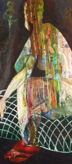 """Saatchi Art Artist Jacqueline van der Plaat; Painting, """"Waiting"""" #art"""