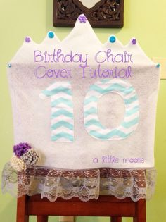 birthday chair cover tutorial