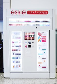 Essie vending machine - the Essie Color Boutique - being put in malls and airports.