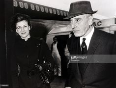 British Royalty, London, England, 3rd February 1971, Princess Alexandra and Earl Mountbatten pictured leaving Heathrow Airport for the U,S,A  (Photo by Popperfoto/Getty Images)