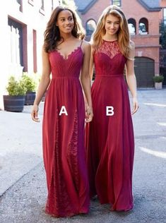 Mismatched Watermen Bridesmaid Dresses, Red Chiffon Bridesmaid Dresses, Cheap Long Bridesmaid Dresses Online, from Oktypes Different Prom Dresses, Red Bridesmaids, Burgundy Bridesmaid Dresses, Bridesmaid Dresses Online, Lace Party Dresses, Chiffon Dresses, Dress Party, Dress Vestidos, Red Chiffon