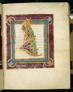 Gospel Book from the Bamberg Cathedral (Reichenau Gospel) — Viewer Medieval Manuscript, Medieval Art, Illuminated Letters, Illuminated Manuscript, Ottonian, Carolingian, 11th Century, Gold Work, Romanesque