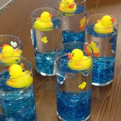How To Plan A Boy Baby Shower - Baby boy shower - Ducky Baby Showers, Rubber Ducky Baby Shower, Baby Shower Duck, Baby Shower Gifts For Boys, Baby Shower Winter, Rubber Ducky Party, Baby Shower Table Decorations, Baby Shower Centerpieces, Baby Decor