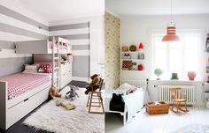 Habitaciones infantiles blancas