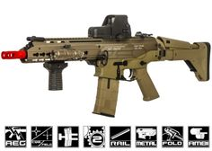 ICS Full Metal CXP - APE KeyMod SBR AEG Airsoft Gun ( Tan ) by: ICS -