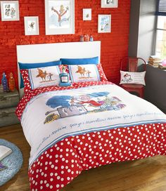Let the fun and imagination of Roald Dahl take you away with this wonderful bedroom linen.