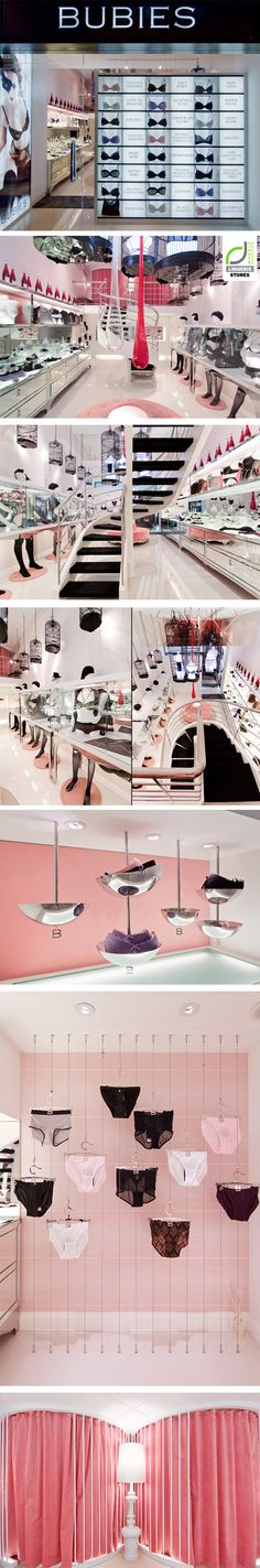 LINGERIE STORES! BUBIES Lingerie Limited flagship store by PplusP Designers, Hong Kong.