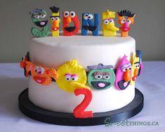 Sesame Street character letter cake