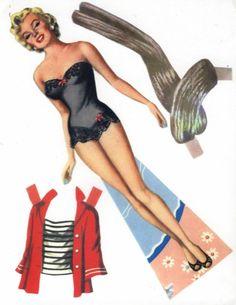 Marilyn paper dolls . Auf macabremarilyn.tumblr.com http://www.pinterest.com/lovenestdesign/paper-dolly/