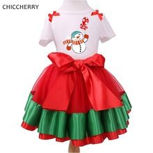 Snowmen Christmas Girls Outfits Tops Lace Tutu Skirt Kids Clothes Conjunto Menina Children Clothing Baby Christmas Costume Gift(China (Mainland))