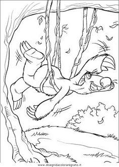 Guarda tutti i disegni da colorare de L'Era Glaciale www.bambinievacanze.com