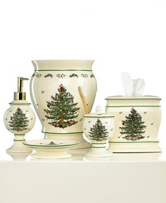 Spode Bath Accessories, Christmas Tree Collection - Bathroom Accessories - Bed & Bath - Macy's