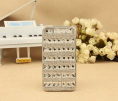 iPhone 5  4S 4G 3GS iPod Touch Shiny Crystals Silver Protective Hard Case 3d Iphone Cases, Iphone 4s, Best Iphone, Ipod Touch, Crystals, Unique Jewelry, Handmade Gifts, Bling Bling, Silver