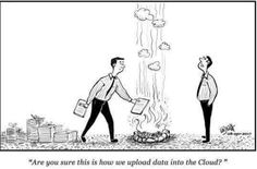 Uploading data into the cloud.