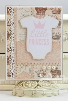Baby Onesie Die-namics and Stamp Set - Mona Pendleton