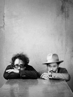 Johnny Depp et Tim Burton - photographie artistique