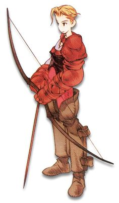 Week 16 - Final Fantasy Tactics - Concept Art Sun - Archer Male