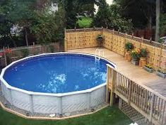 Easy pool deck w privacy screen project plan 90004 Above ground pool privacy