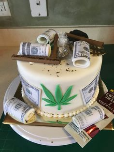 20 Ideas for Weed Birthday Cake Birthday Cakes For Men, Weed Birthday Cake, Money Birthday Cake, 19th Birthday Cakes, Birthday Cake For Boyfriend, Funny Birthday Cakes, Money Cake, Husband Birthday Cake, 21st Birthday Ideas For Guys