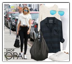 """""""SHOP - OPAL"""" by ladymargaret ❤ liked on Polyvore featuring Level 99, MANGO, J.J. Winters and Ray-Ban"""