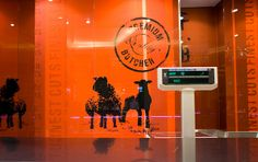 Butcher shop retail graphics by MatterDesign, via Flickr