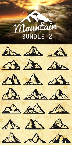 All for graphics and design: Illustrator Mountain Shapes For Logos Bundle 02