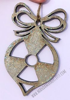 Excited to share this item from my shop: Radiation Symbol Ornament in Rustic Silver with Sparkles Medical Radiography, Radiology Student, College Grad Gifts, Rad Tech, Medical Imaging, Tech Gifts, Sparkles, Symbols, Rustic