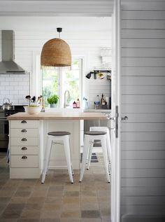 Hamilton legno di recupero Marmo-Top Isola della cucina   pottery ...