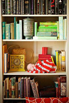 Newborn on a shelf: absolutely magical!