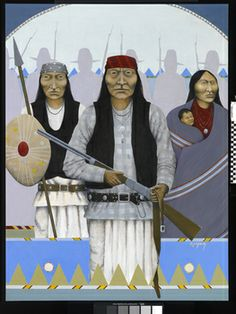 Title: Mangus With Trust; Date created: 2006; Artist:Oliver Enjady, Mescalero Apache, b. ca. 1953; Place: Mescalero Apache Reservation; Otero County; New Mexico; USA.